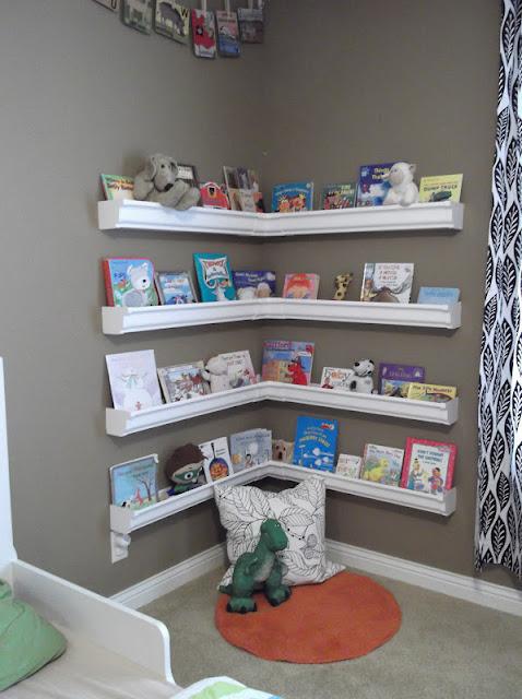 How To: GENIUS Rain Gutter Book Shelves