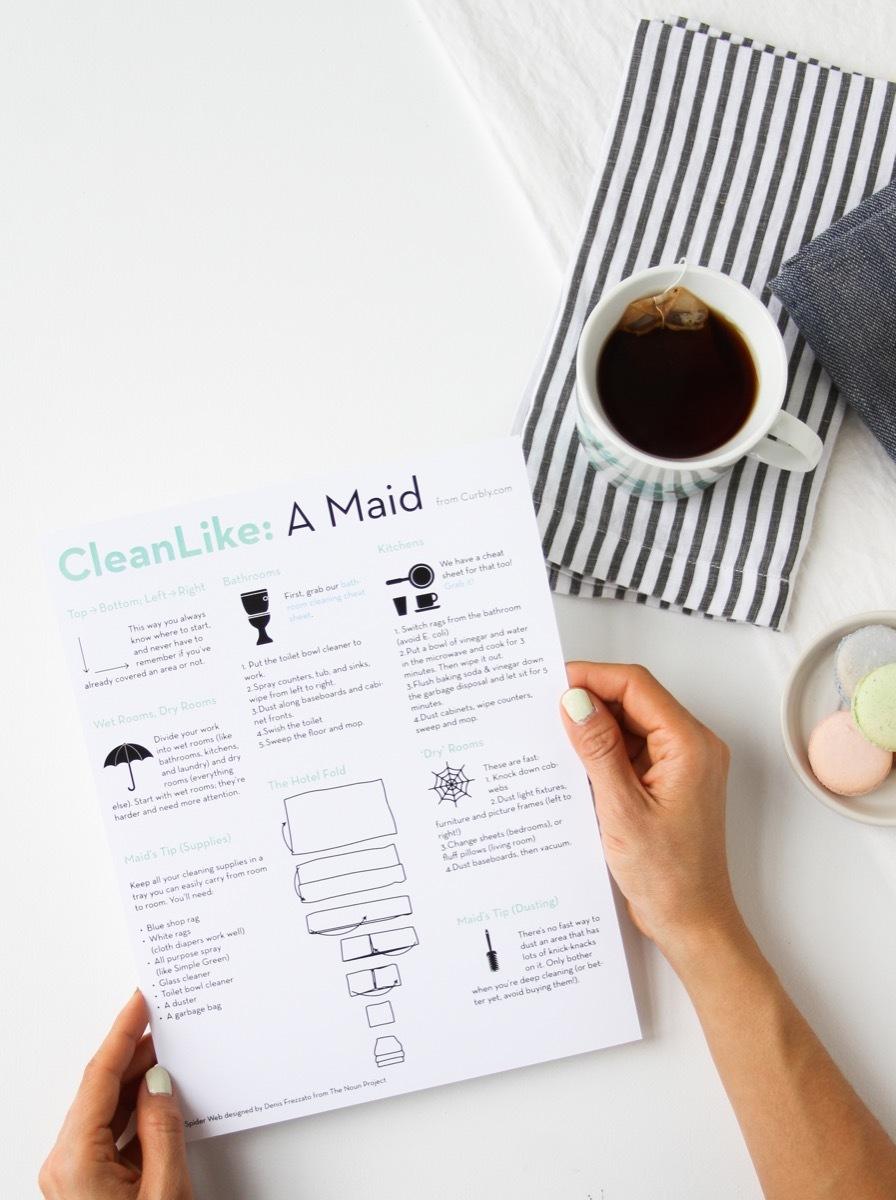 Clean like a maid worksheet hires 3 web