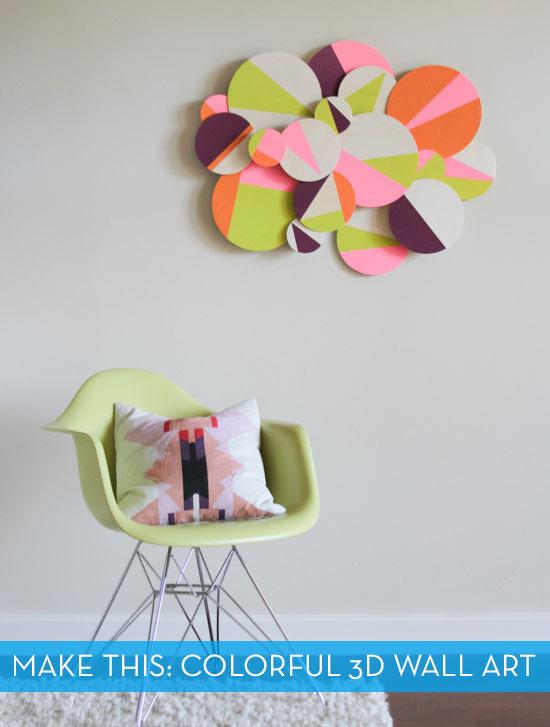 Colorful wall art diy