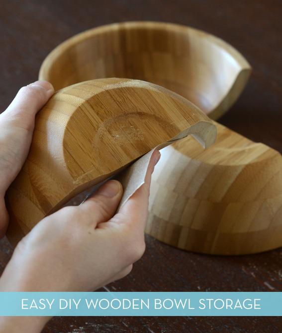 Diy Wooden Half Bowl Storage Curbly