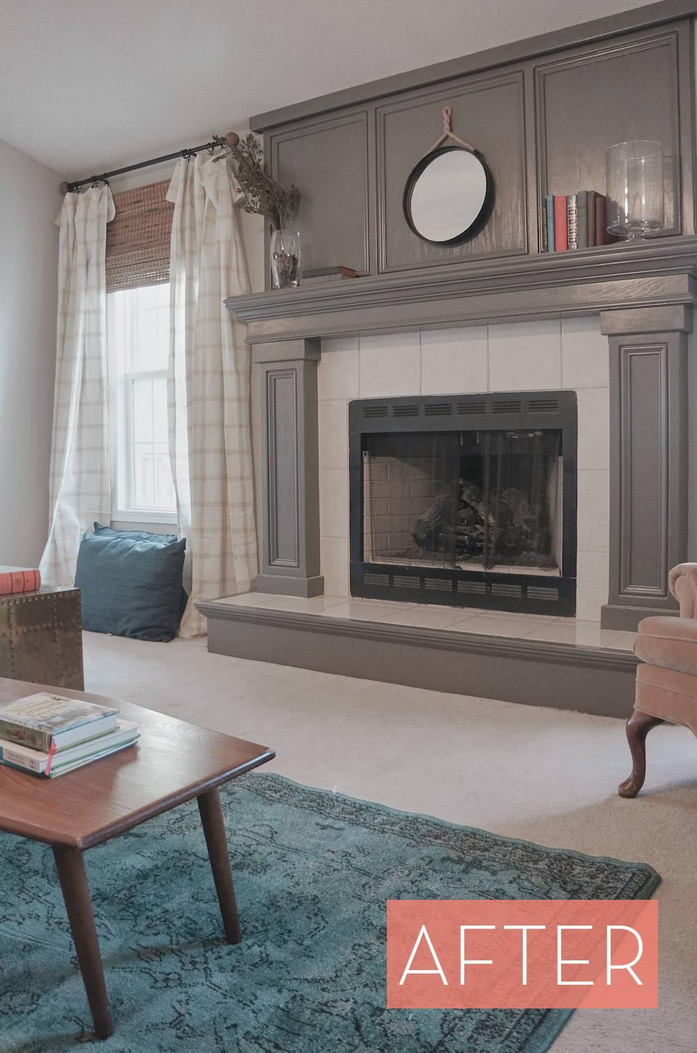Oak Fireplace Makeover