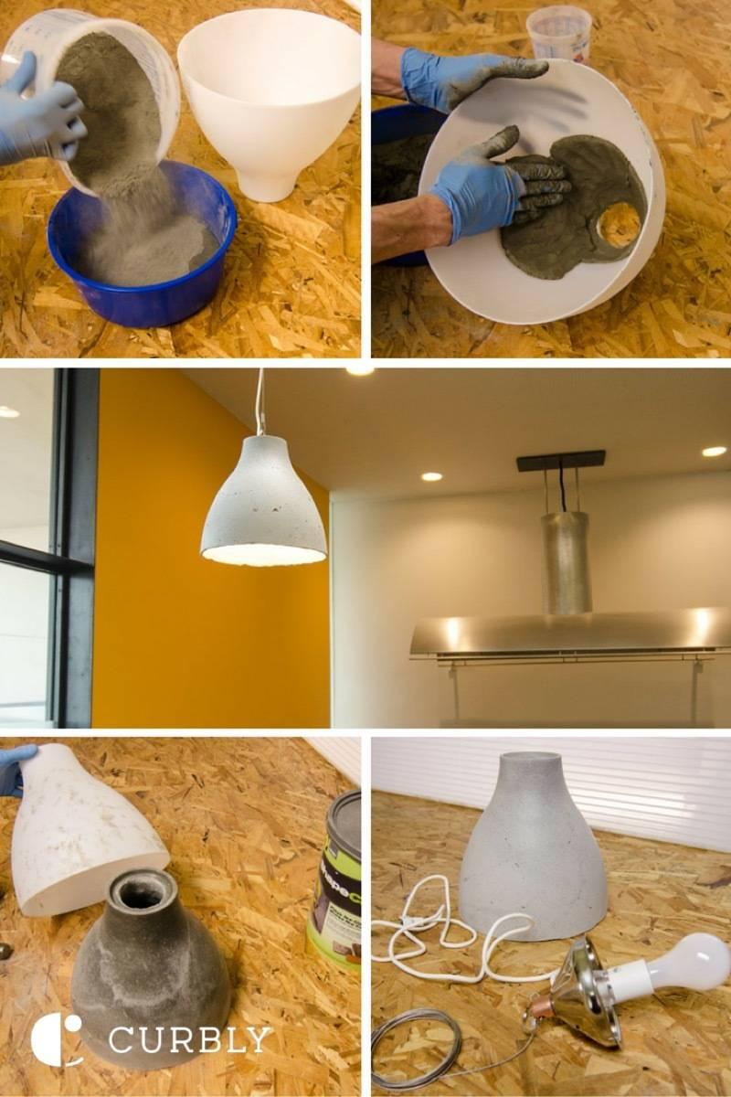 Ikea Lighting Hack Copper Ikea Hack Concrete Pendant Lamp Curbly Ikea Hack How To Make Modern Concrete Pendant Lamp Curbly