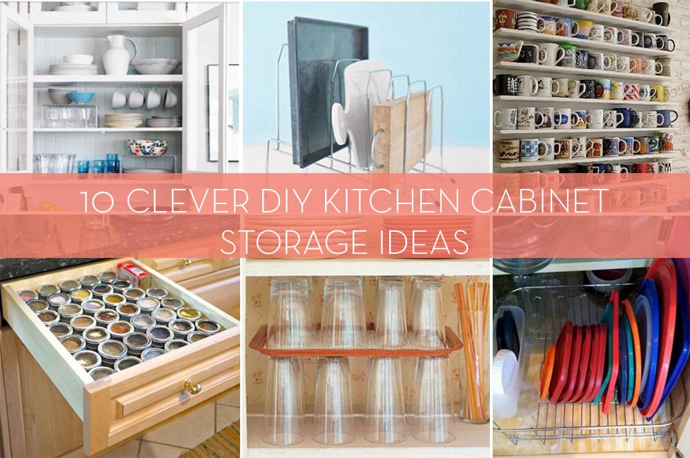 Diy Kitchen Cabinet Storage Ideas roundup: 10 creative diys to organize your kitchen cabinets   curbly