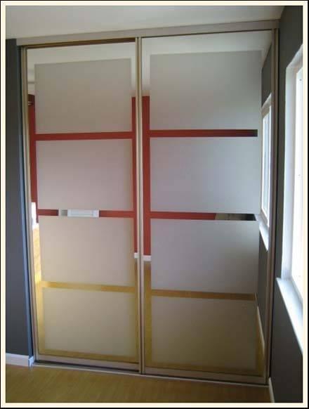 spray frosted closet doors