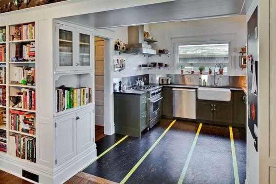 Patterned Linoleum Flooring Examples   Curbly