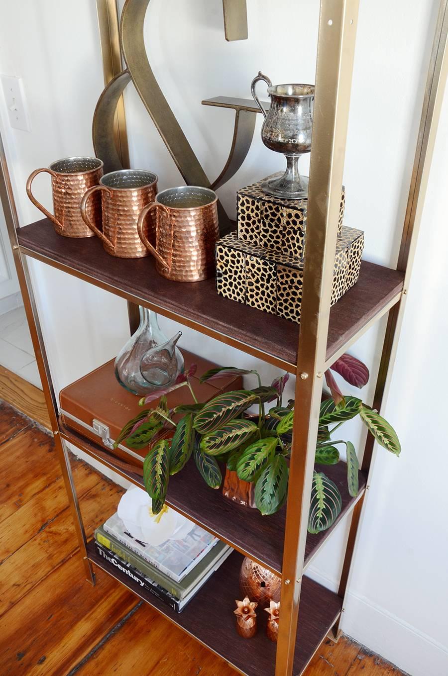 IKEA Hack: A Utilitarian Shelf Goes Rustic Glam