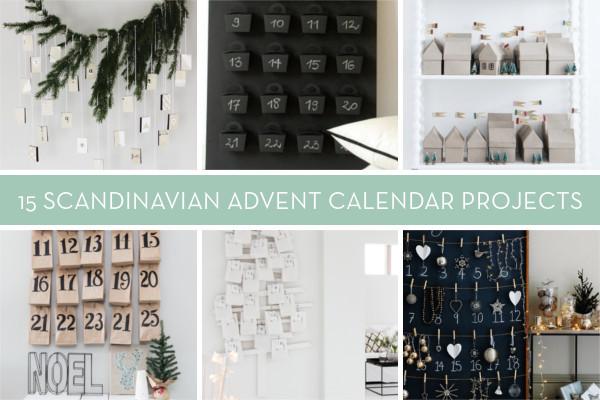 Scandinavian DIY advent calendar roundup