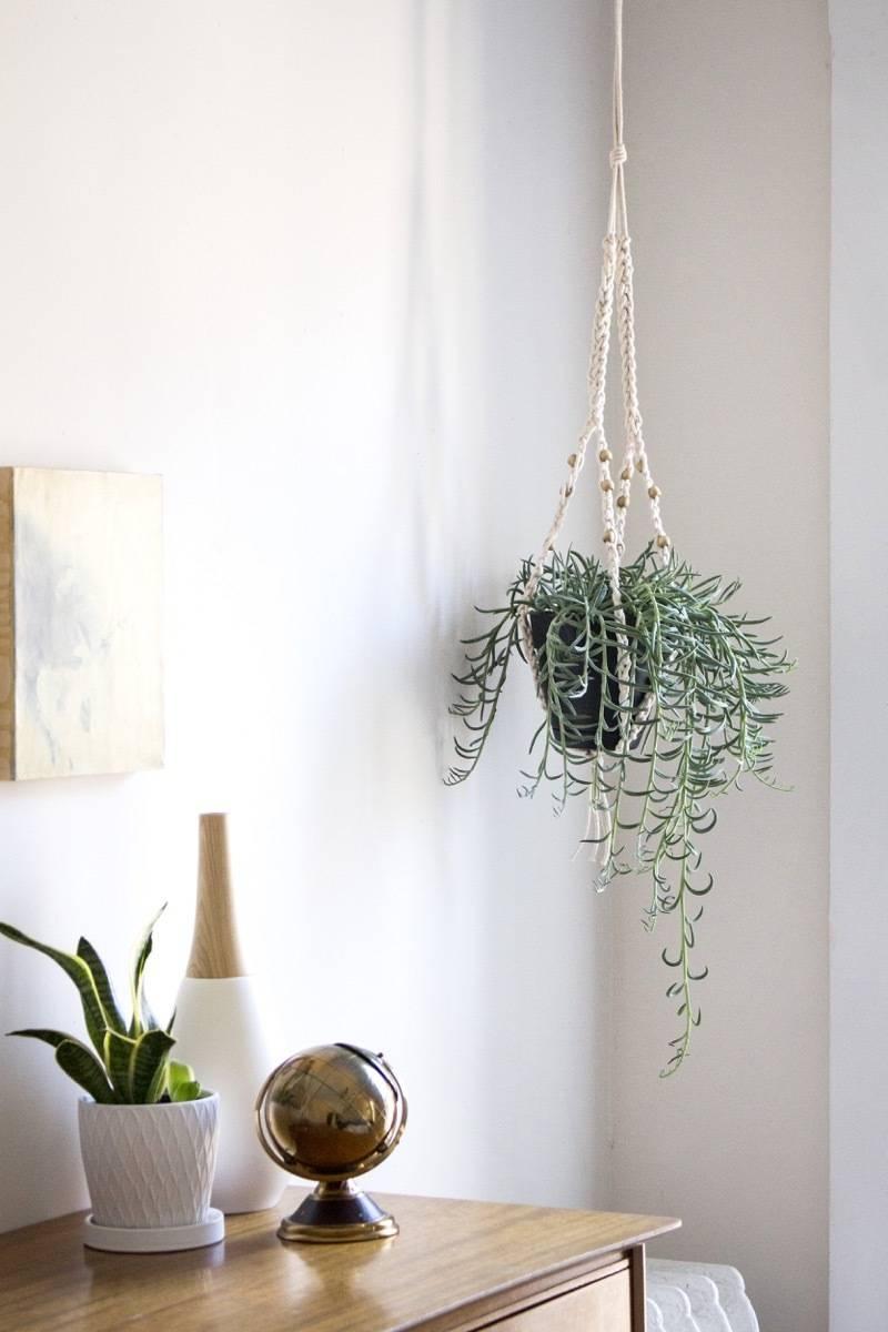 How to make this crochet hanger for houseplants