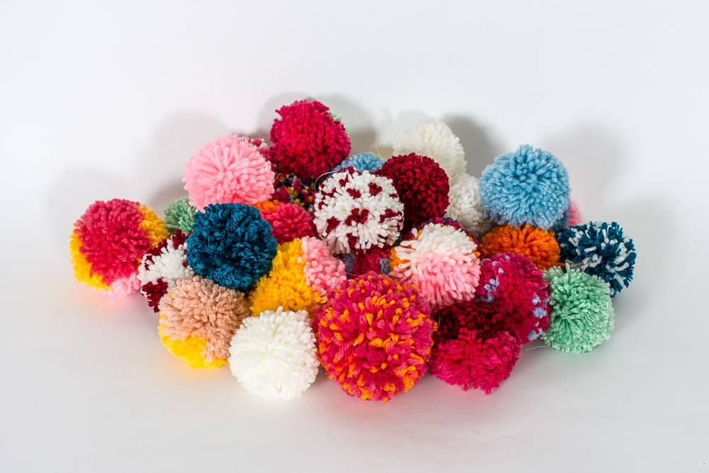 Pile of pom-poms