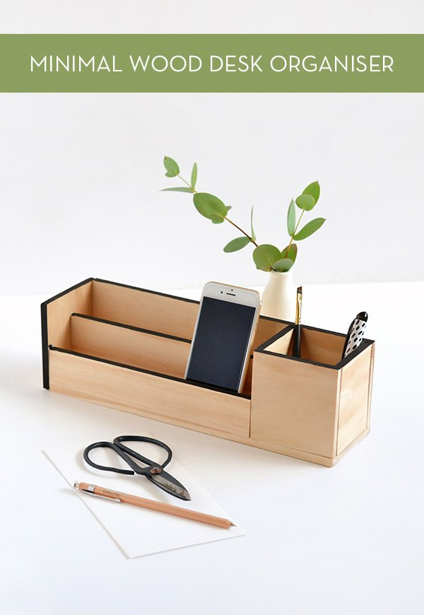 make it minimal wood desk organizer curbly. Black Bedroom Furniture Sets. Home Design Ideas